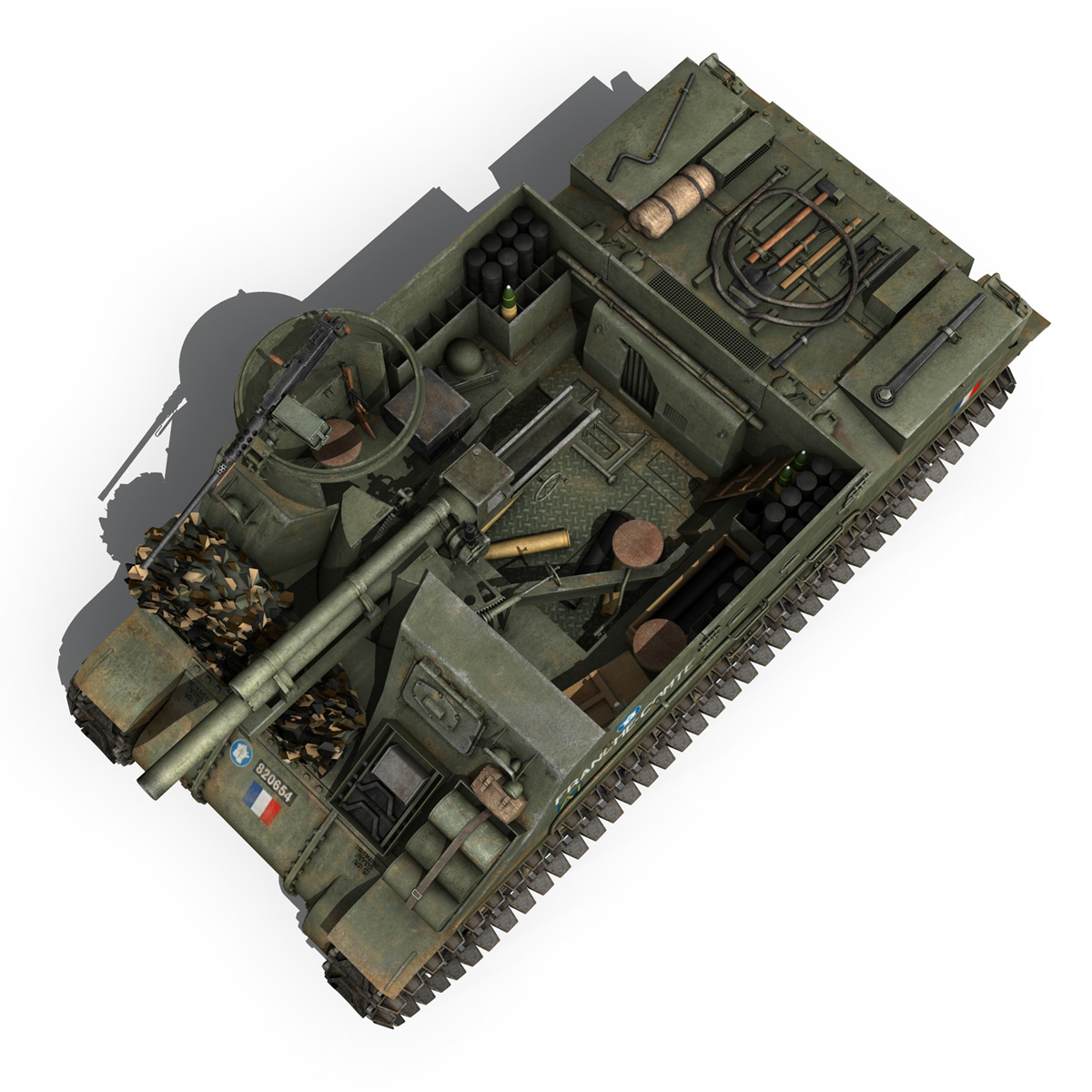 M7 Priest - Franche-Comte 3d model  265865