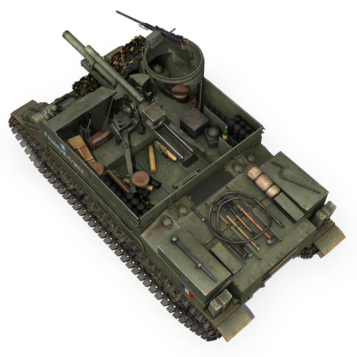 M7 Priest - Franche-Comte 3d model  265866