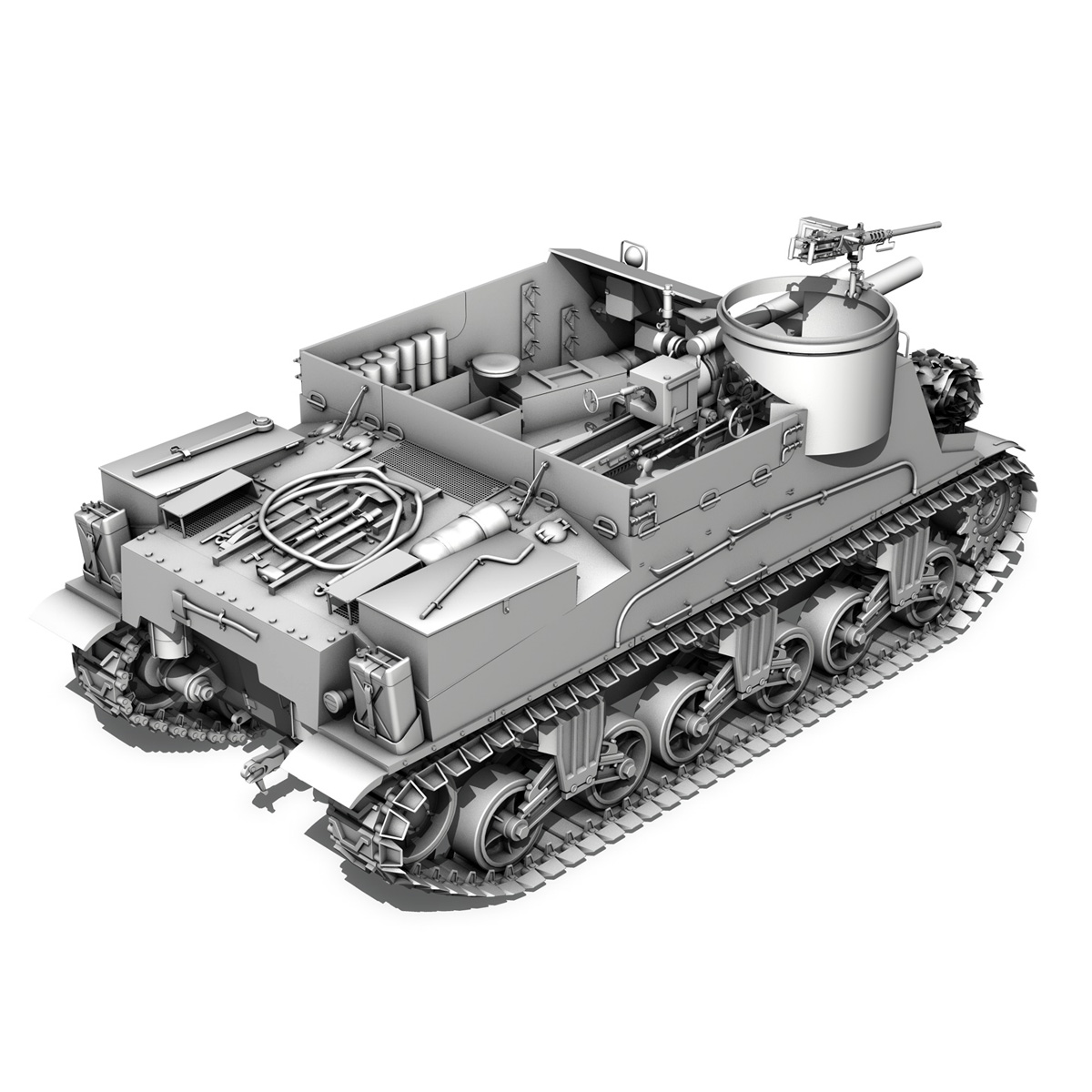 M7 Priest - Franche-Comte 3d model  265870