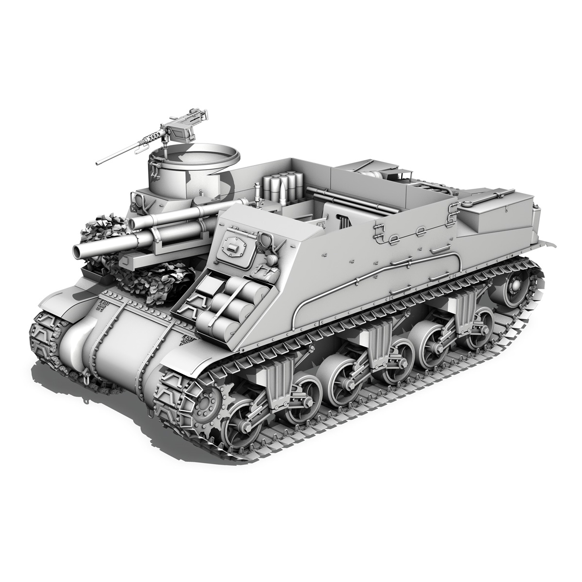 M7 Priest - Franche-Comte 3d model  265871