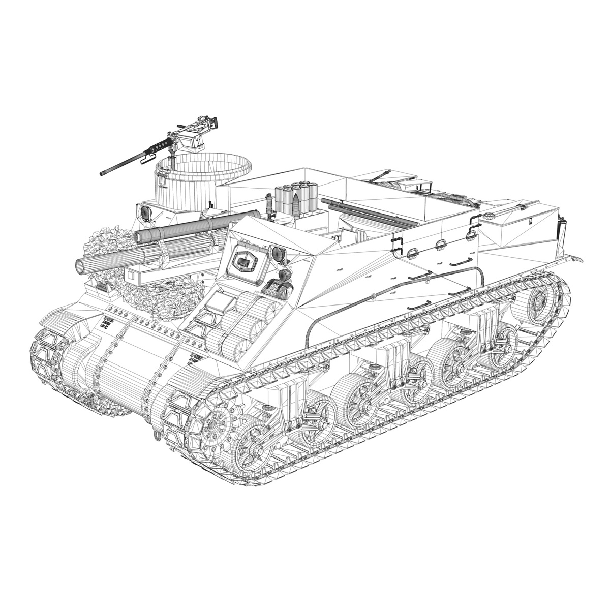 M7 Priest - Franche-Comte 3d model  265872