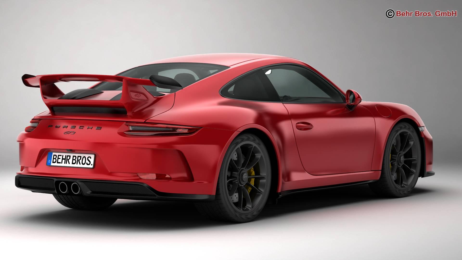 porsche 911 gt3 2018 3d model 3ds max fbx c4d lwo ma mb obj 265894