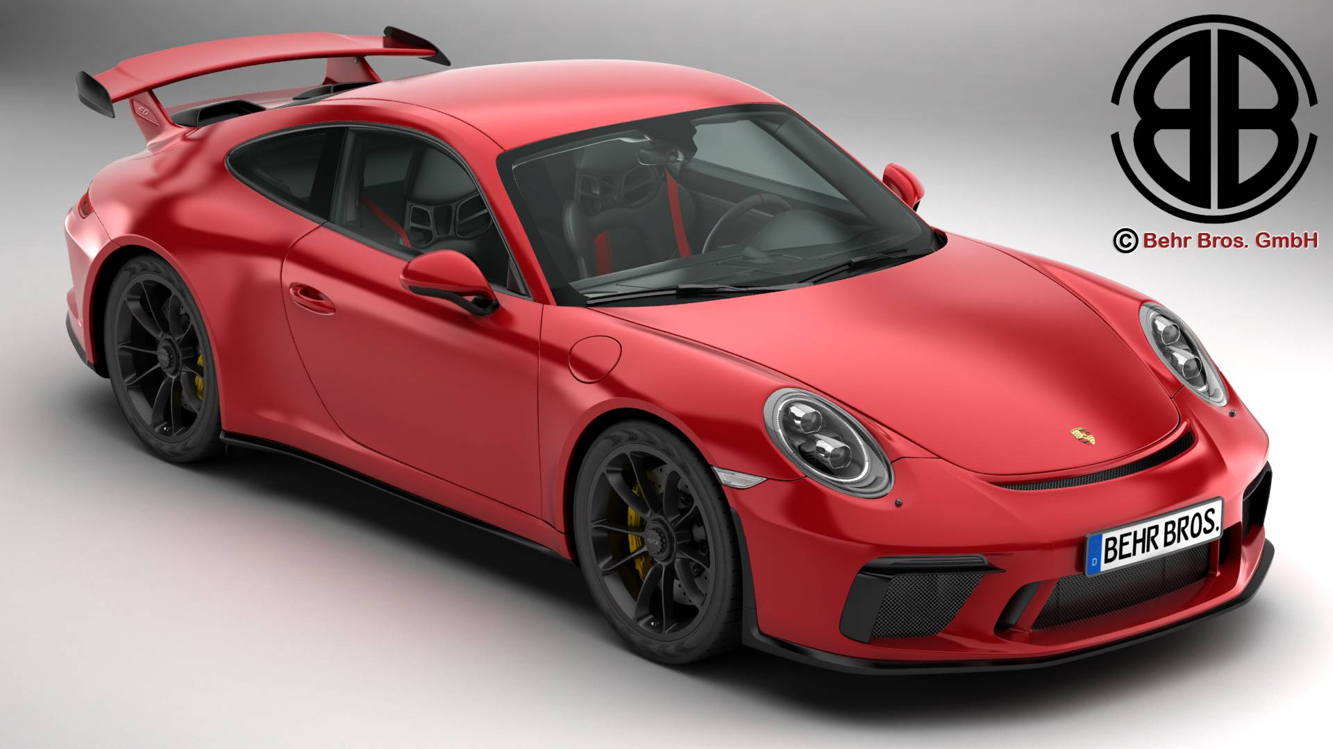 porsche 911 gt3 2018 model 3ds max fbx c3d le do thoil 4