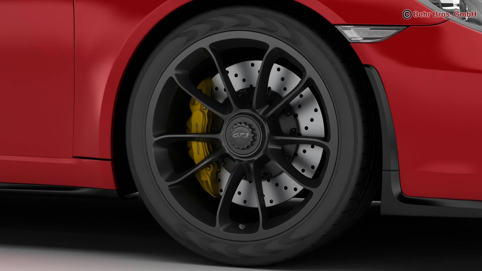 porsche 911 gt3 2018 3d model 3ds max fbx c4d lwo ma mb obj 265898