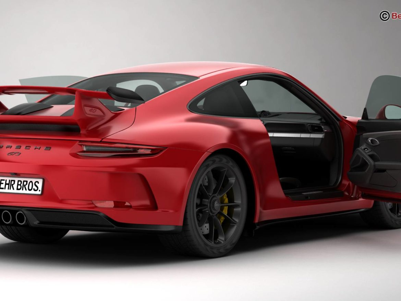 Porsche 911 GT3 2018 3d model high poly