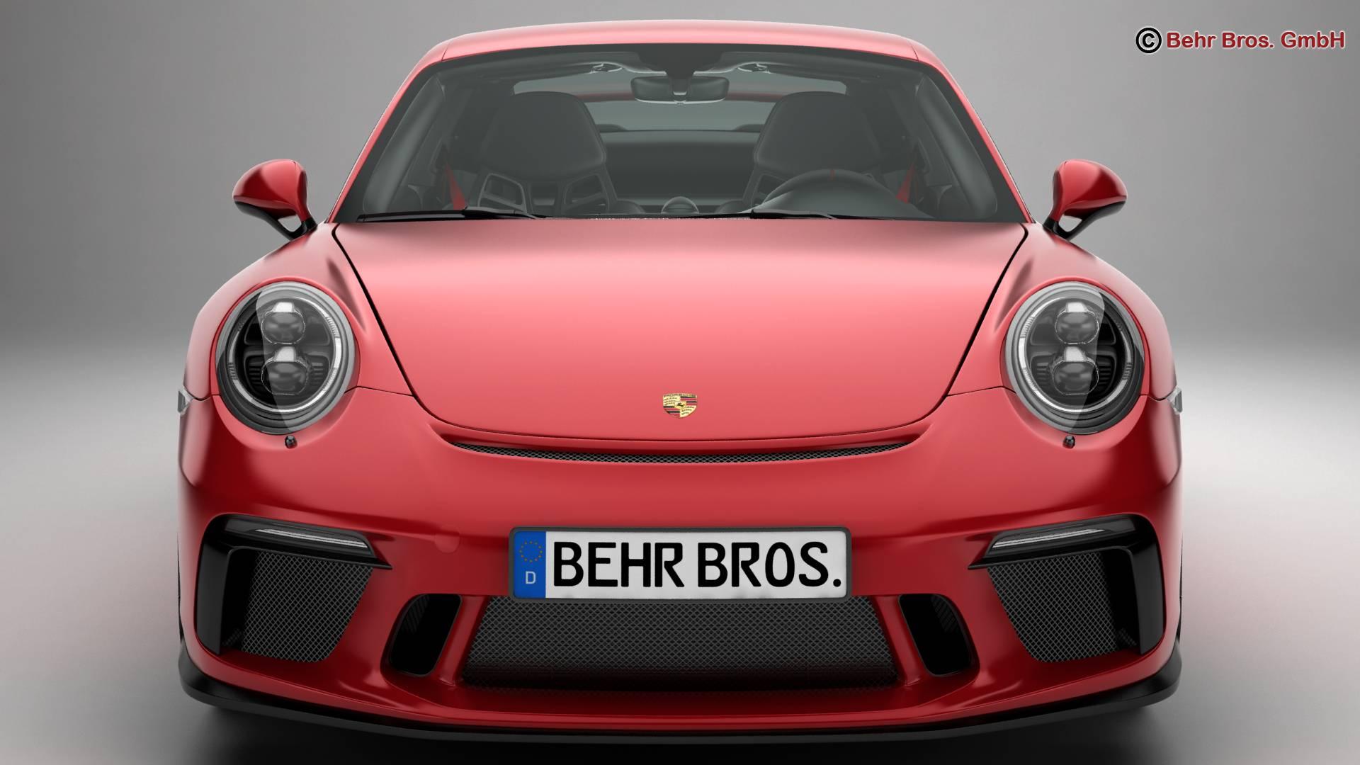porsche 911 gt3 2018 3d model 3ds max fbx c4d lwo ma mb obj 265903