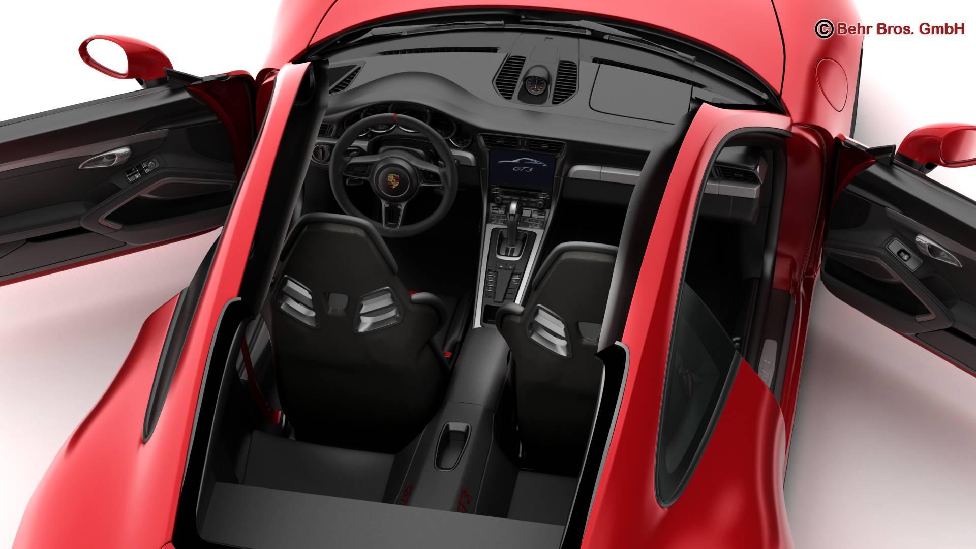 porsche 911 gt3 2018 3d model 3ds max fbx c4d lwo ma mb obj 265905