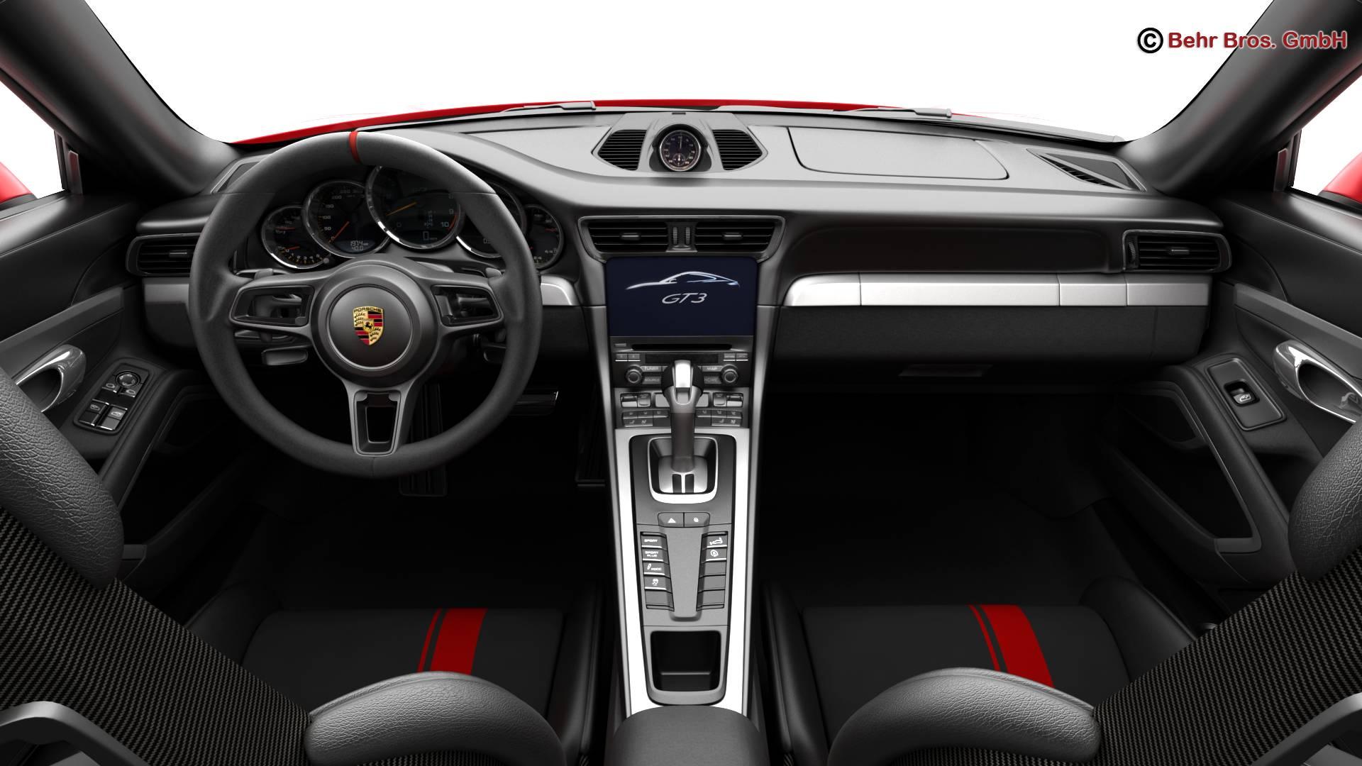 porsche 911 gt3 2018 3d model 3ds max fbx c4d lwo ma mb obj 265908