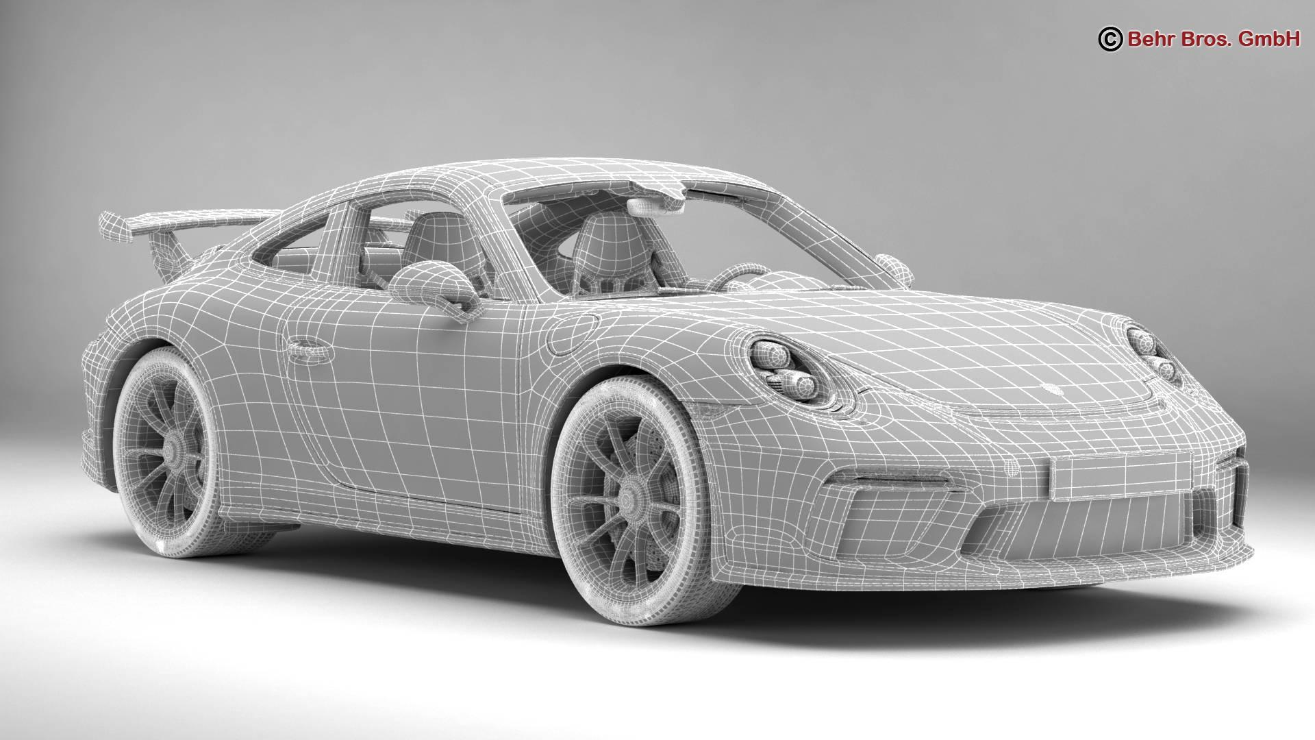 porsche 911 gt3 2018 3d model 3ds max fbx c4d lwo ma mb obj 265909
