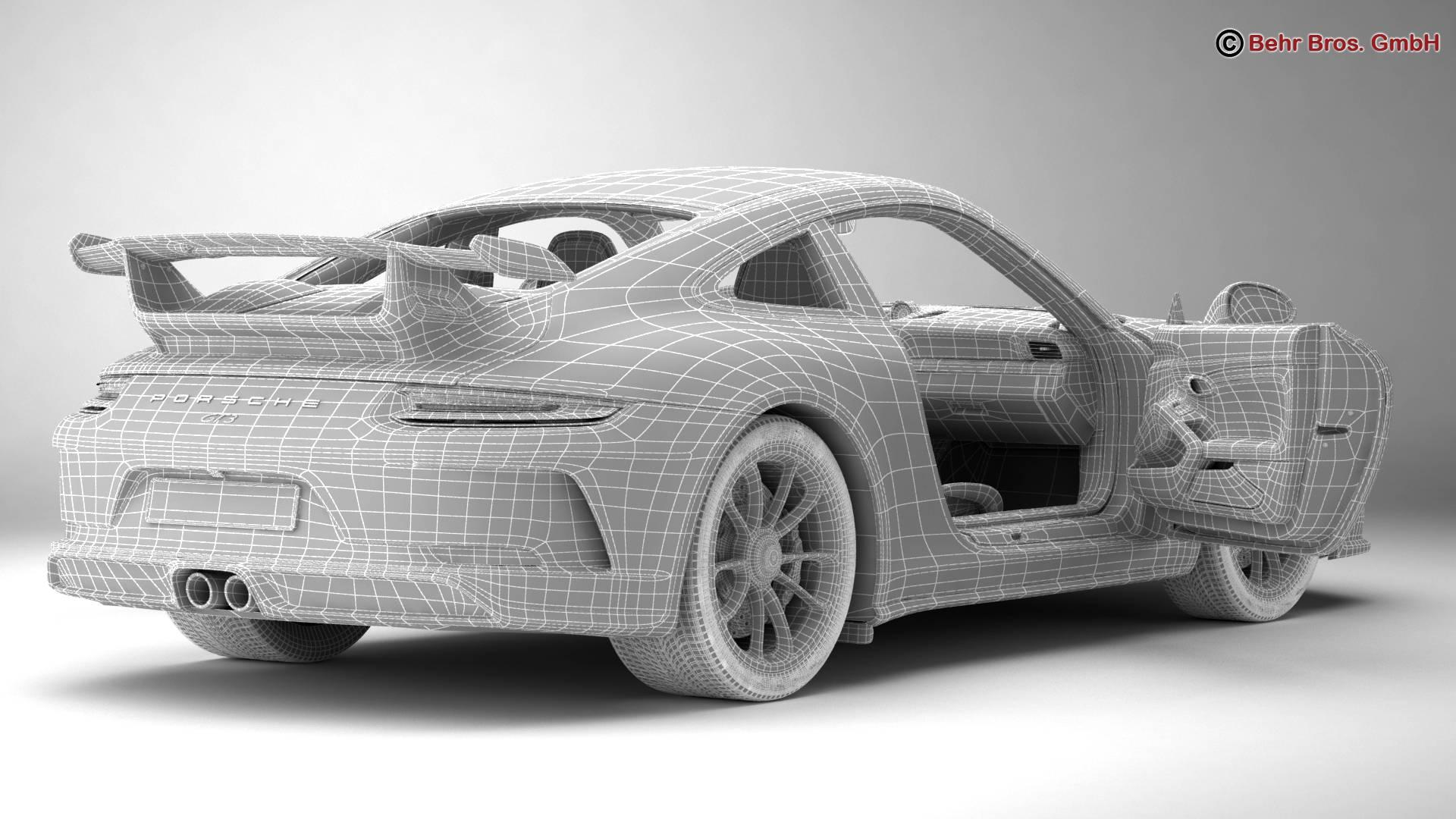 porsche 911 gt3 2018 3d model 3ds max fbx c4d lwo ma mb obj 265911