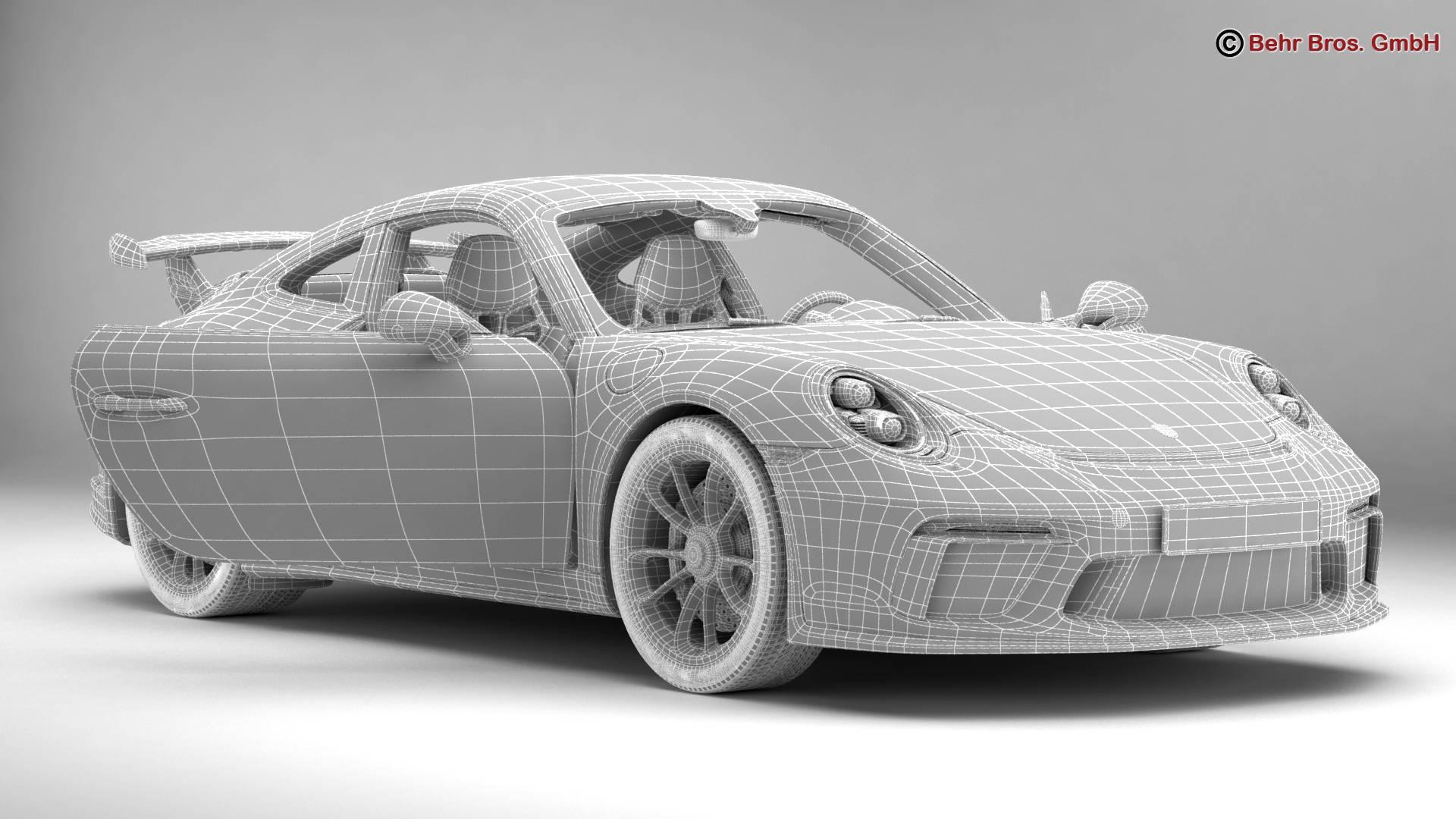 porsche 911 gt3 2018 3d model 3ds max fbx c4d lwo ma mb obj 265912