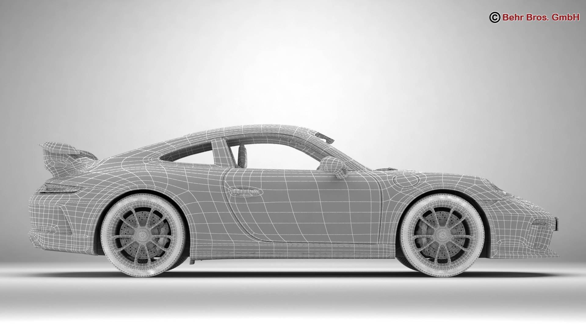 porsche 911 gt3 2018 3d model 3ds max fbx c4d lwo ma mb obj 265913