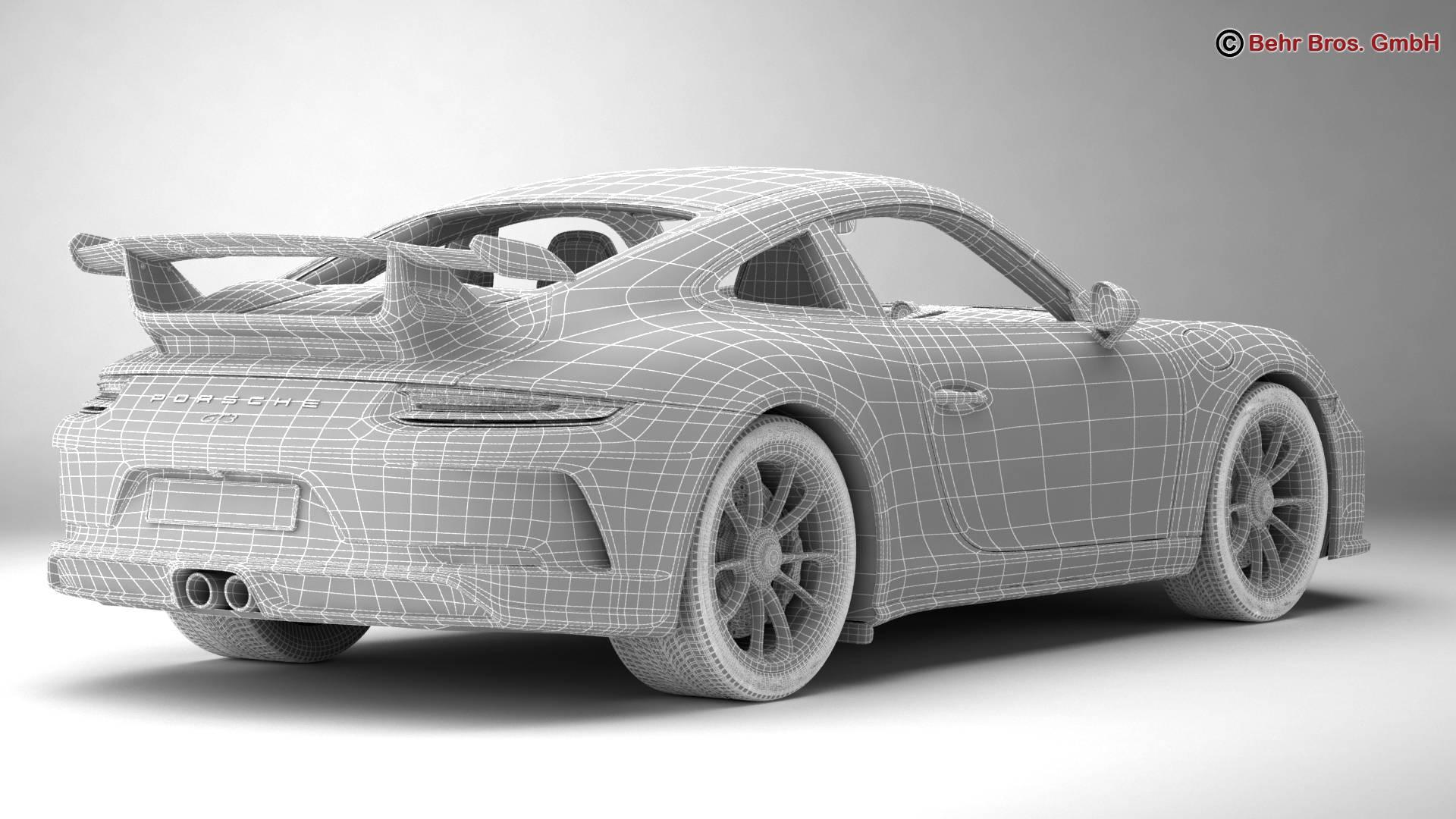 porsche 911 gt3 2018 3d model 3ds max fbx c4d lwo ma mb obj 265914