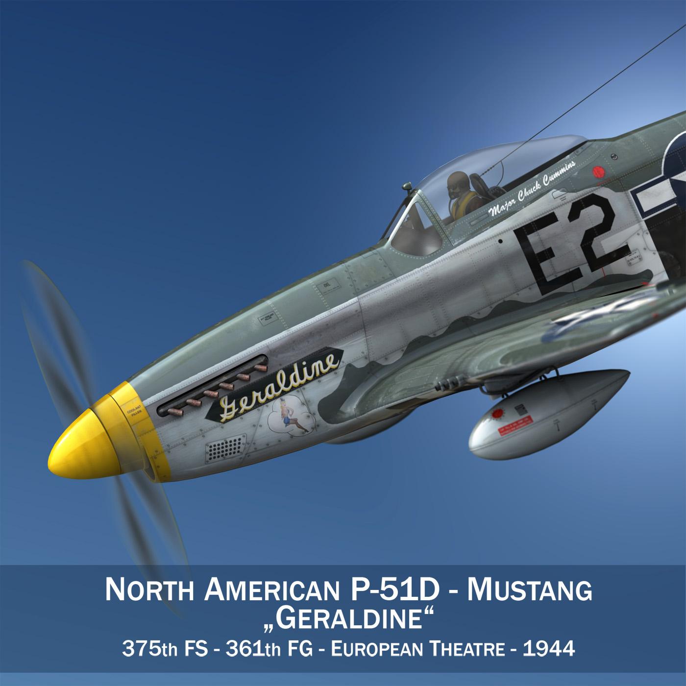 Ziemeļamerikas p-51d - geraldīns 3d modelis fbx c4d lwo obj 265937