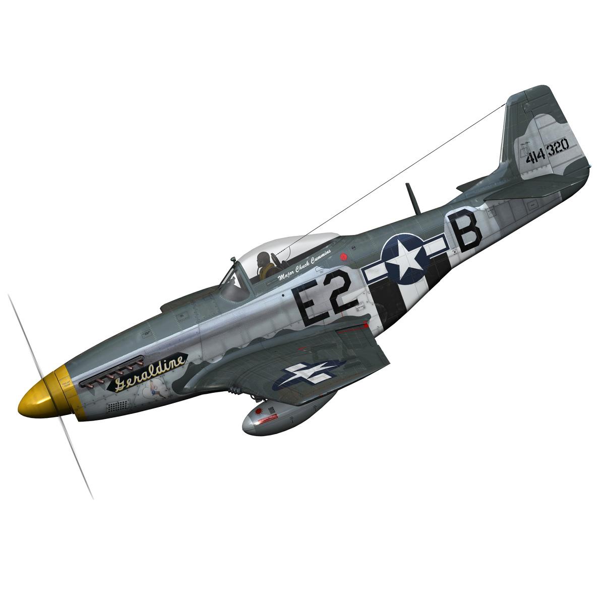 North American P-51D - Geraldine 3d model fbx c4d lwo obj 265938