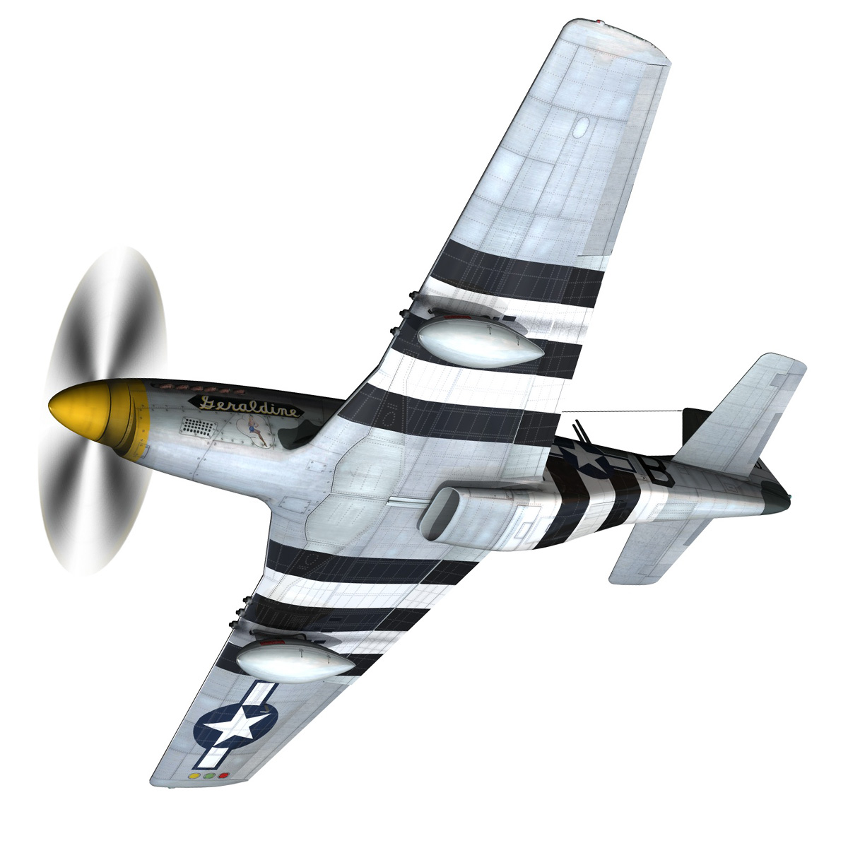 North American P-51D - Geraldine 3d model fbx c4d lwo obj 265939