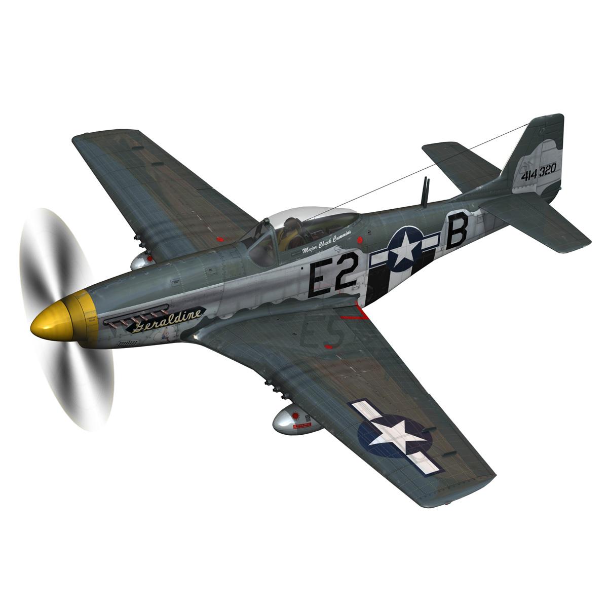 North American P-51D - Geraldine 3d model fbx c4d lwo obj 265940