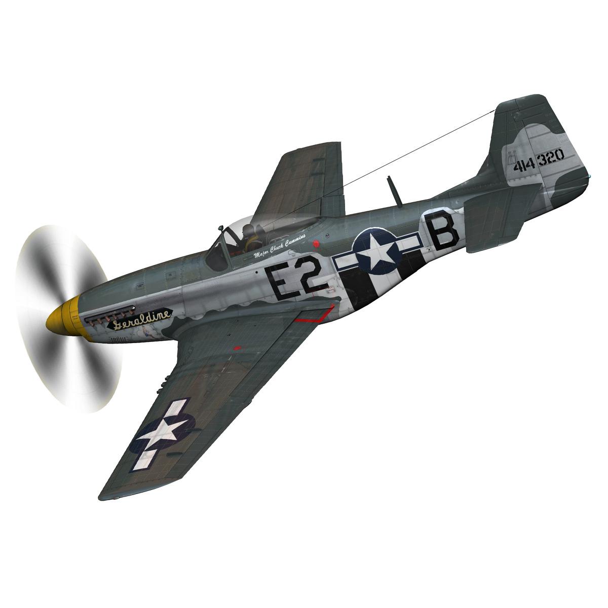 North American P-51D - Geraldine 3d model fbx c4d lwo obj 265941