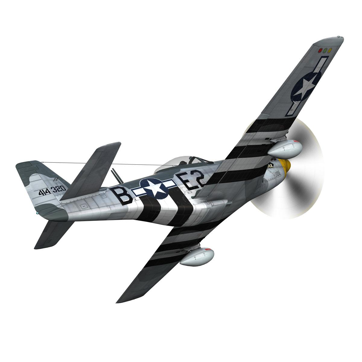 North American P-51D - Geraldine 3d model fbx c4d lwo obj 265942