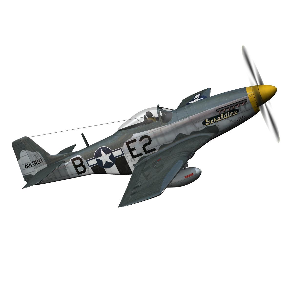 North American P-51D - Geraldine 3d model fbx c4d lwo obj 265943