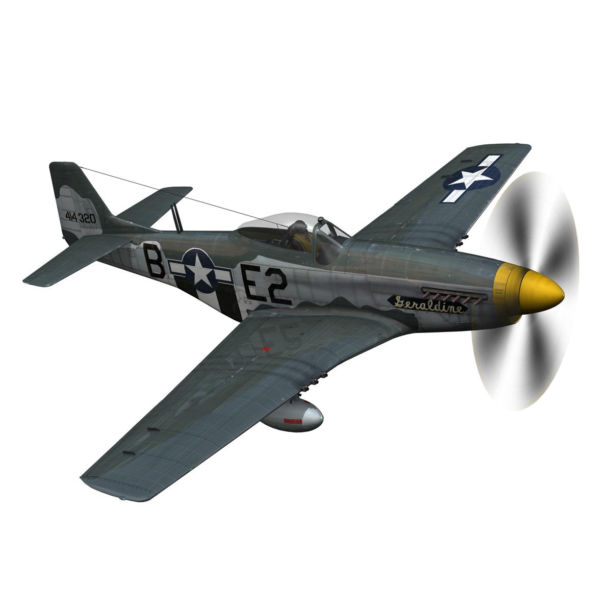 North American P-51D - Geraldine 3d model fbx c4d lwo obj 265944
