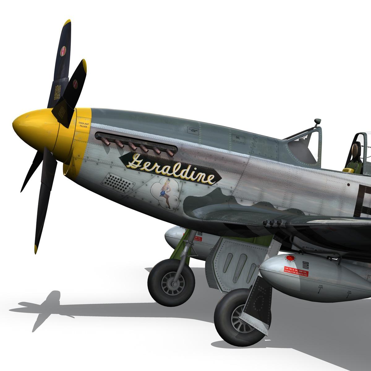 North American P-51D - Geraldine 3d model fbx c4d lwo obj 265945
