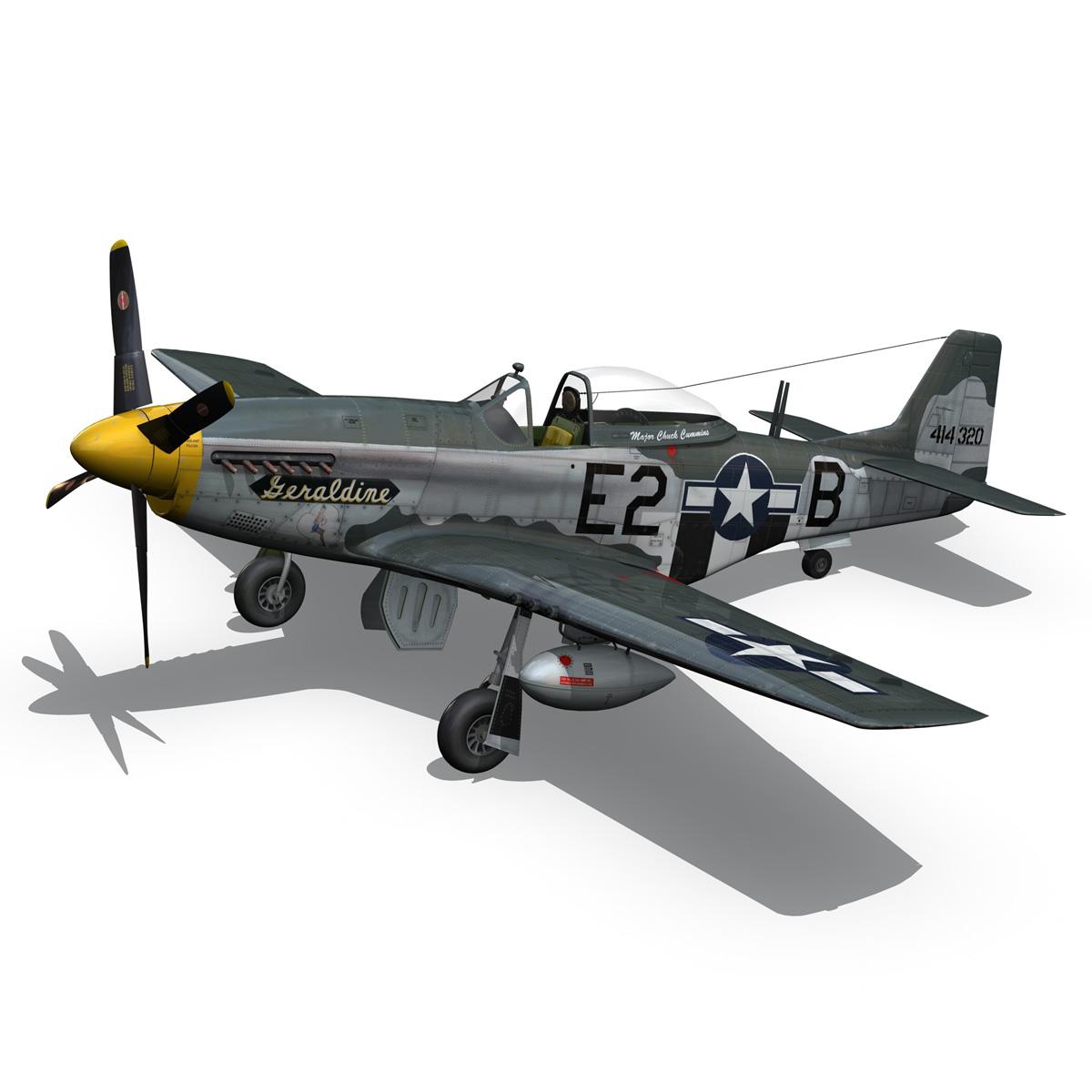 North American P-51D - Geraldine 3d model fbx c4d lwo obj 265946