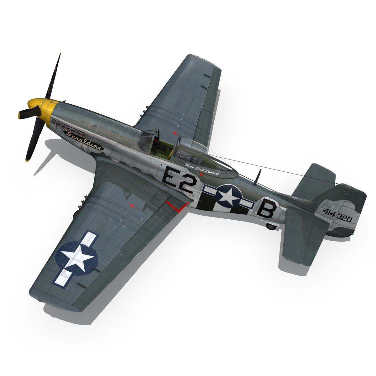 North American P-51D - Geraldine 3d model fbx c4d lwo obj 265947
