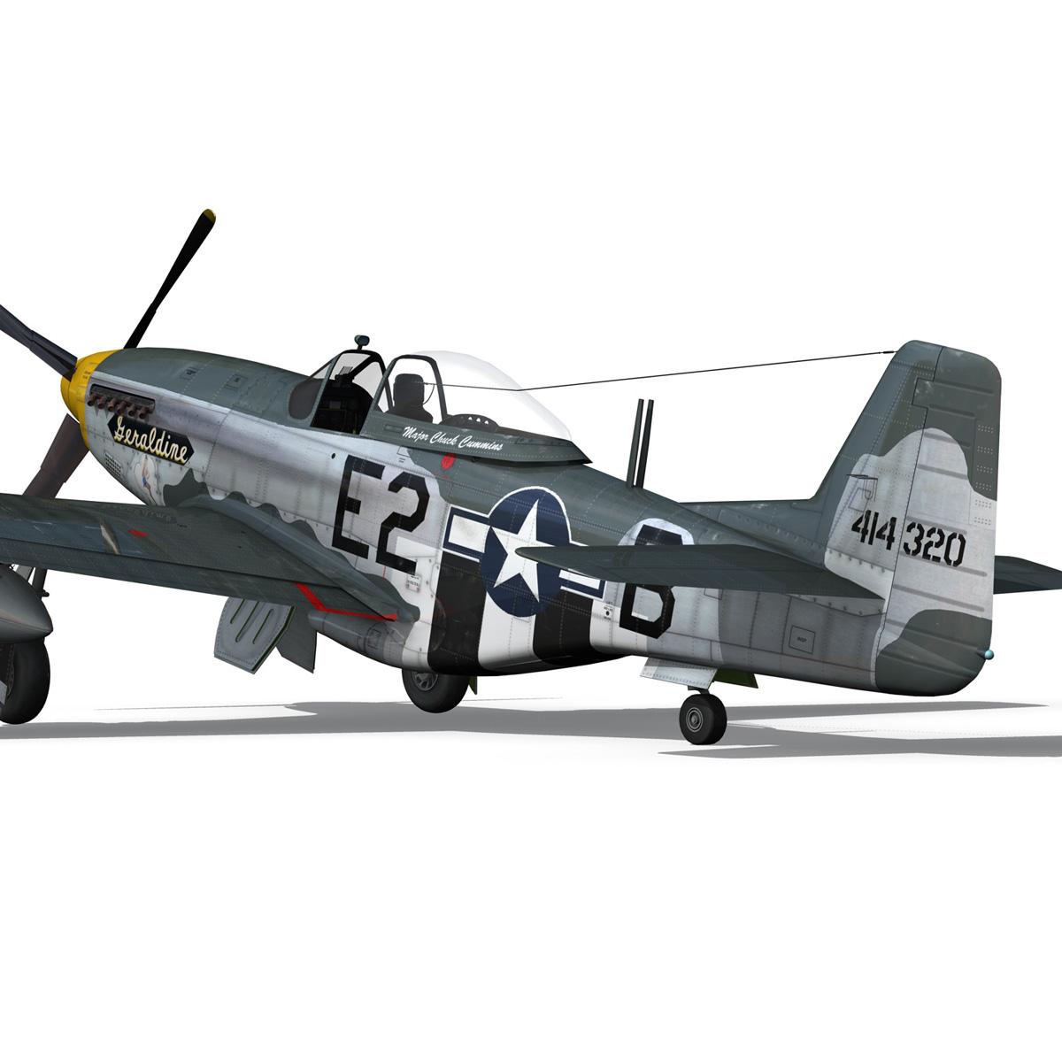 North American P-51D - Geraldine 3d model fbx c4d lwo obj 265948