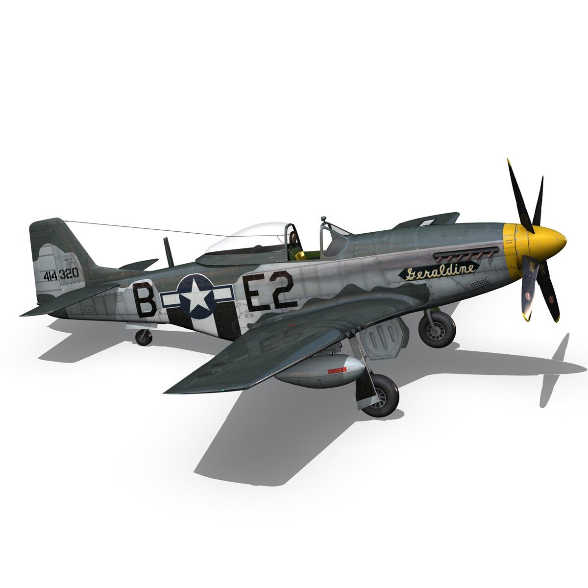North American P-51D - Geraldine 3d model fbx c4d lwo obj 265949