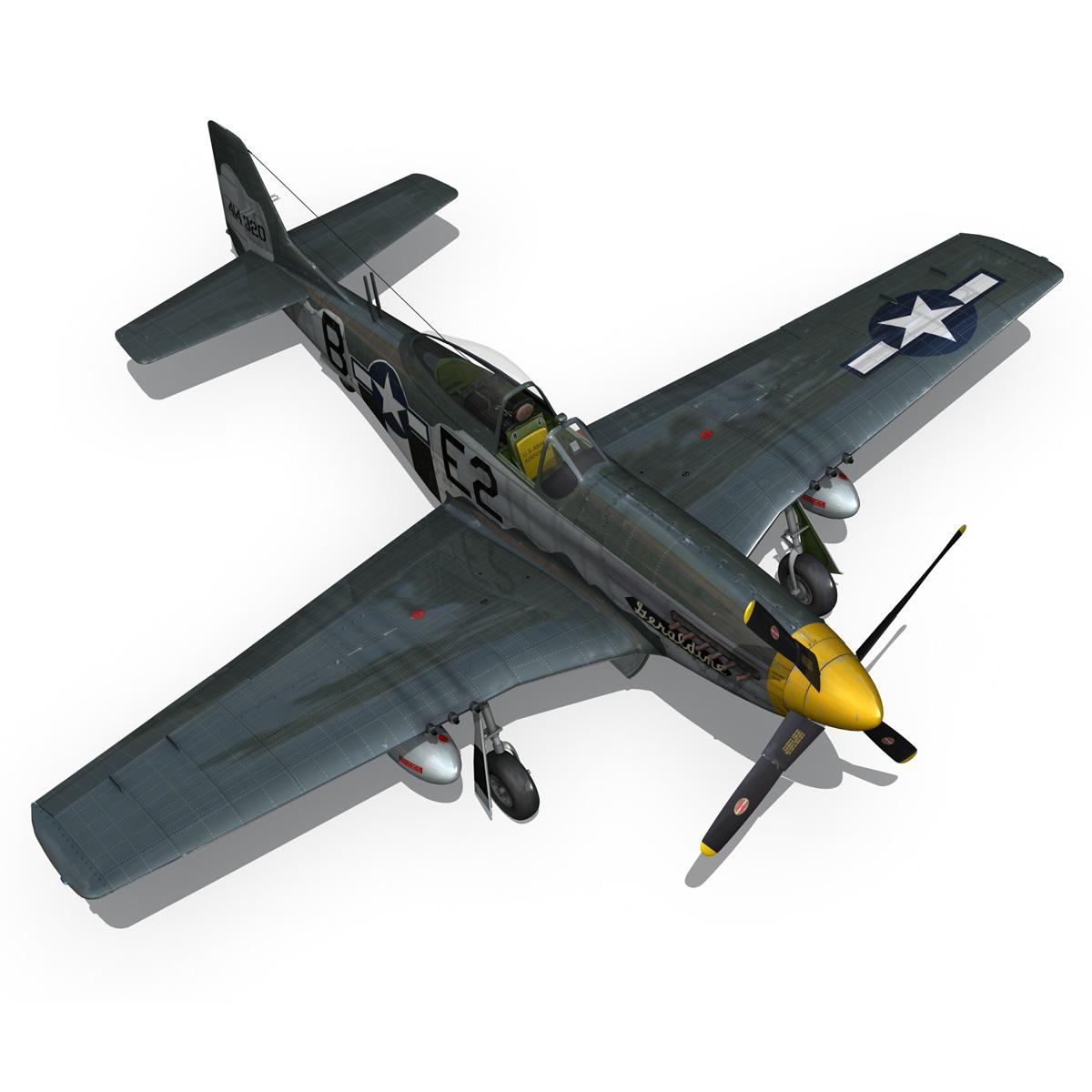 North American P-51D - Geraldine 3d model fbx c4d lwo obj 265950