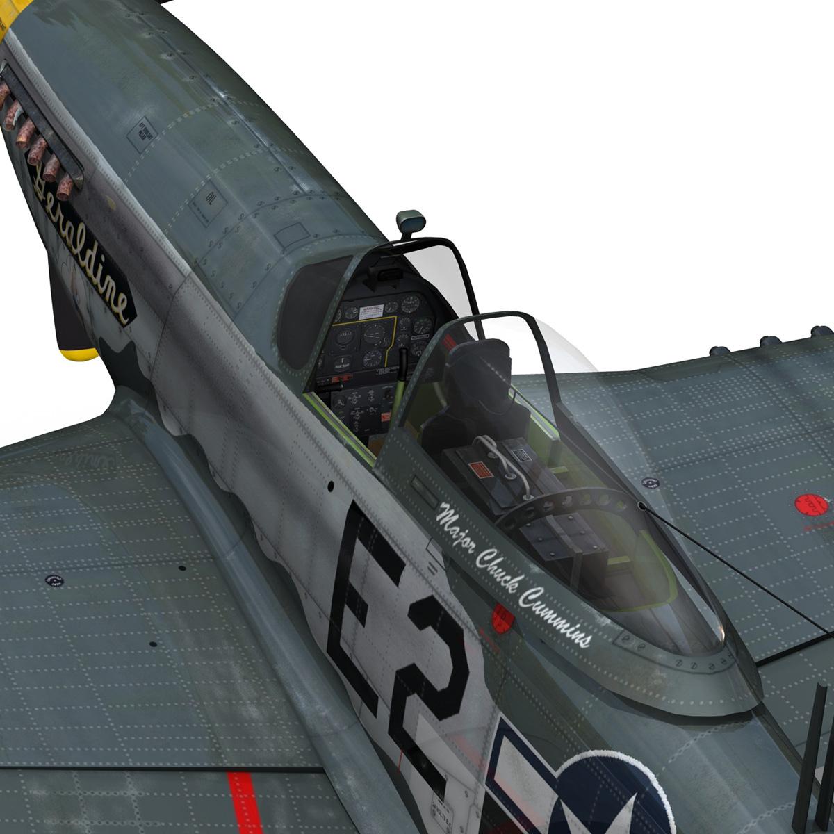 North American P-51D - Geraldine 3d model fbx c4d lwo obj 265951