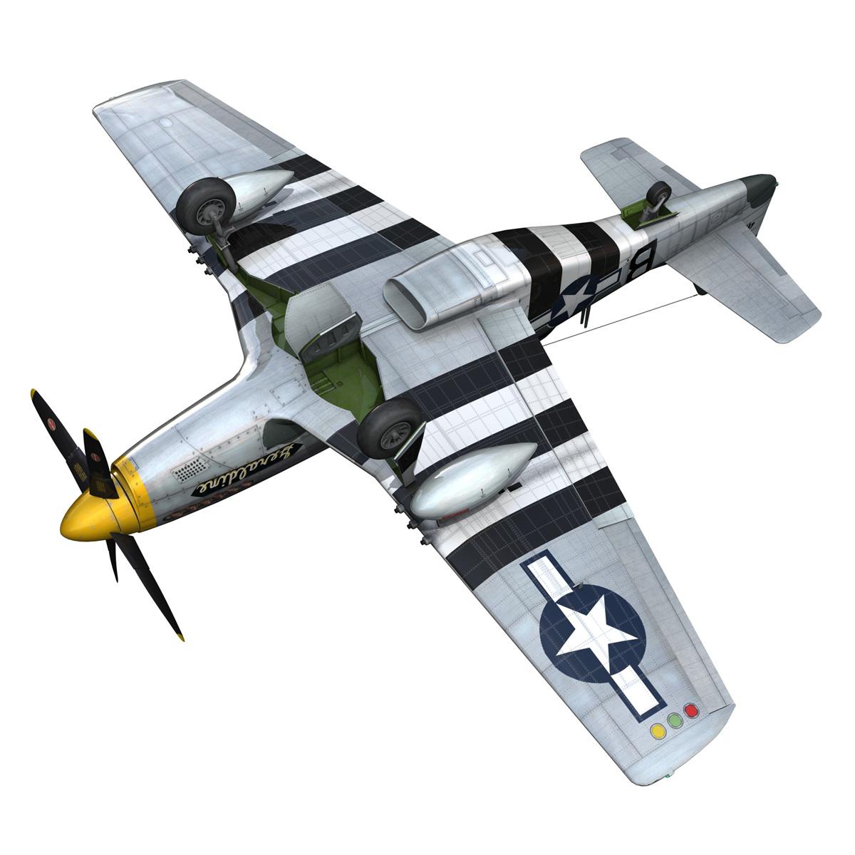 North American P-51D - Geraldine 3d model fbx c4d lwo obj 265952