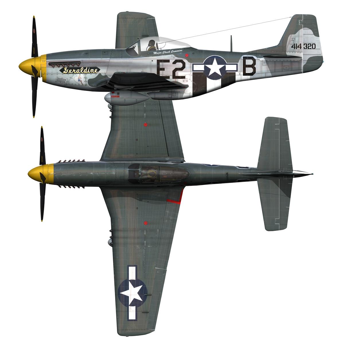 North American P-51D - Geraldine 3d model fbx c4d lwo obj 265953