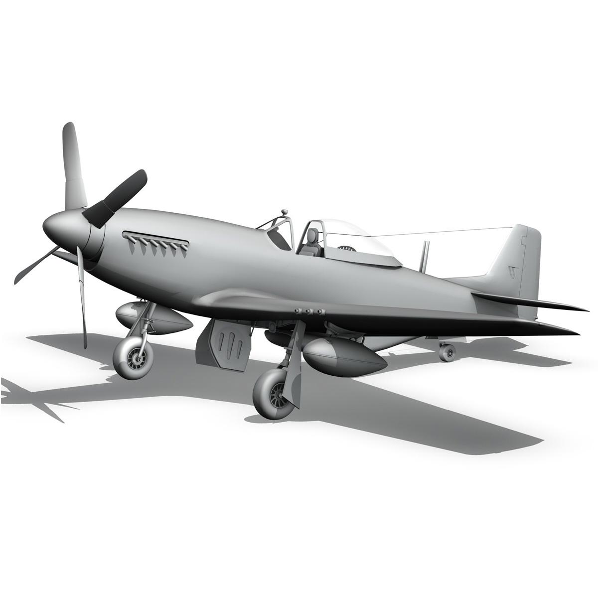 North American P-51D - Geraldine 3d model fbx c4d lwo obj 265954