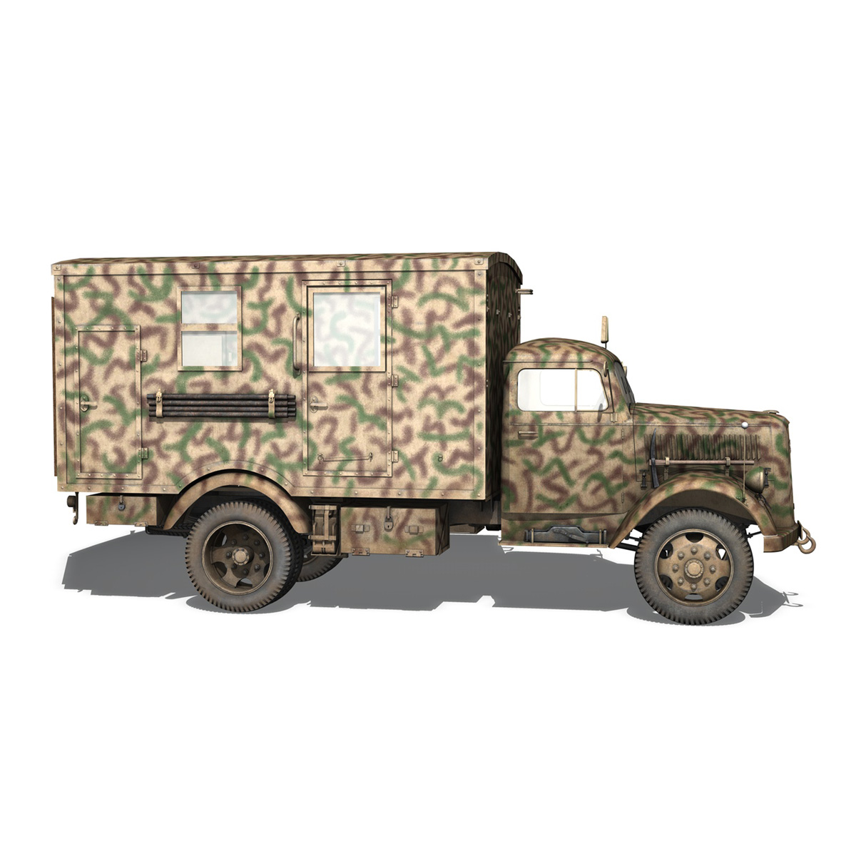 Opel Blitz - 3t Truck with Radiokoffer 3d model  265983