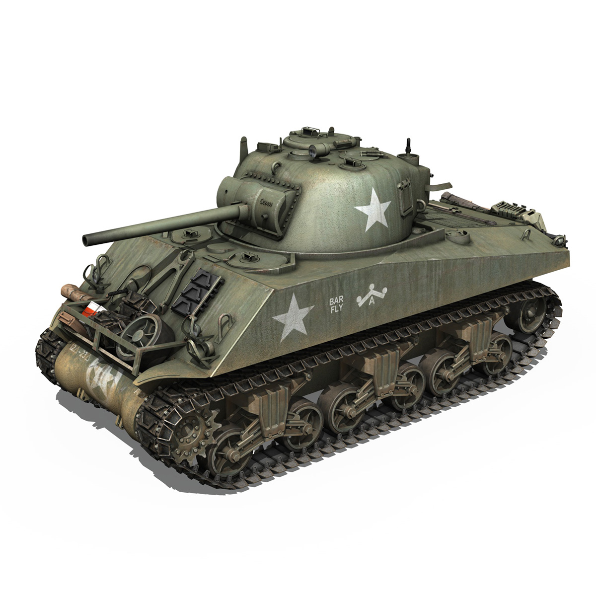 M4A3 75mm - Sherman - Barfly 3d model  265994