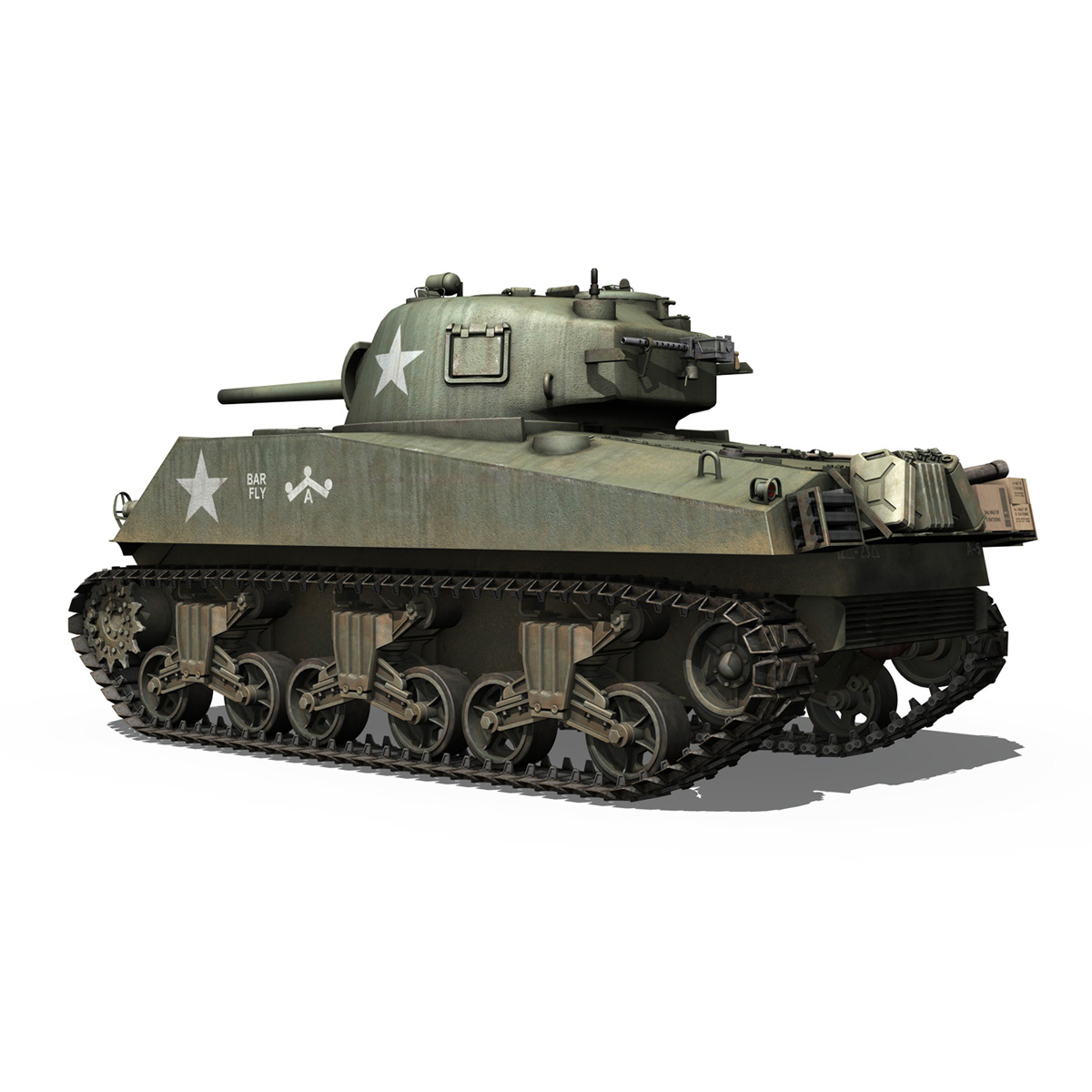 M4A3 75mm - Sherman - Barfly 3d model  265995