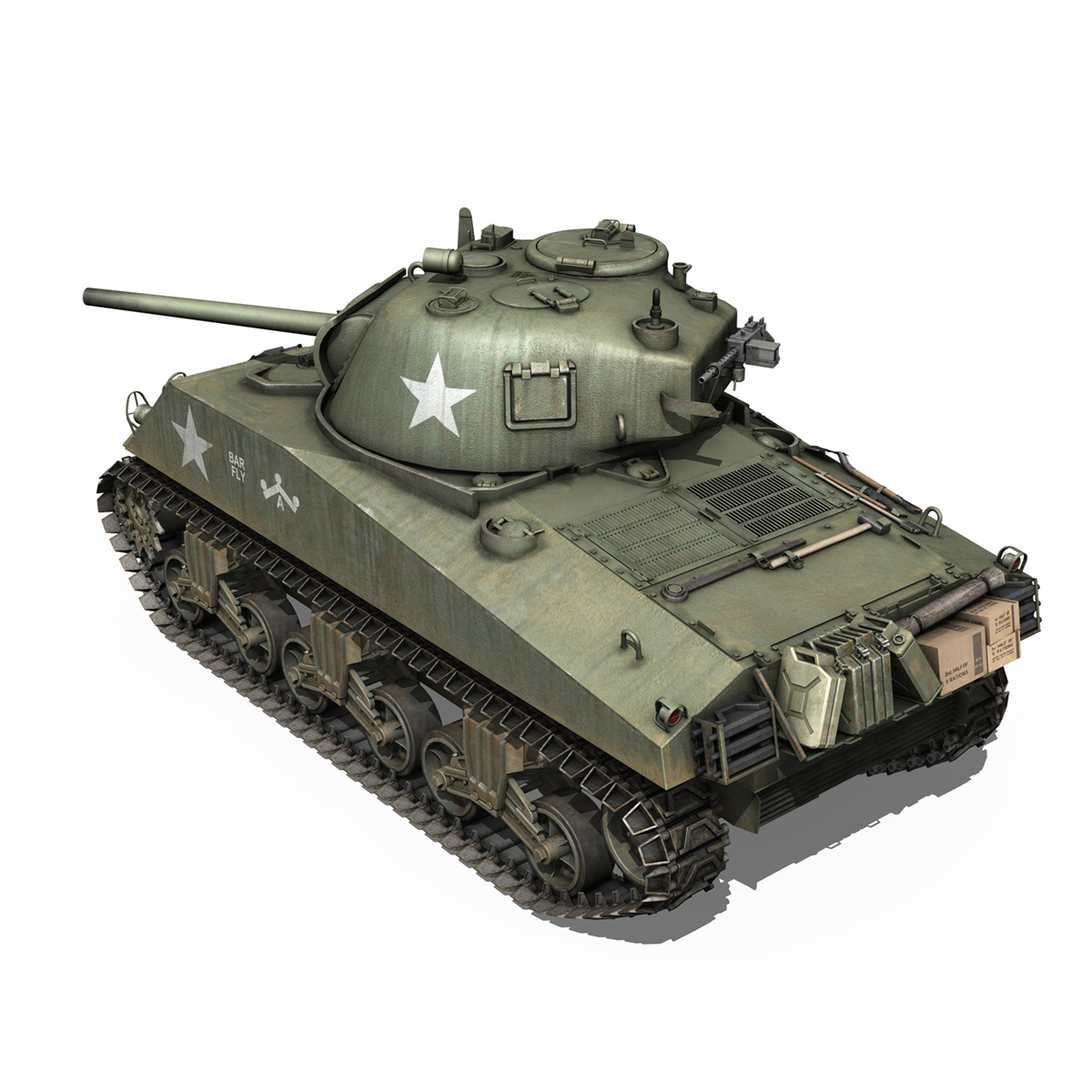 M4A3 75mm - Sherman - Barfly 3d model  265996