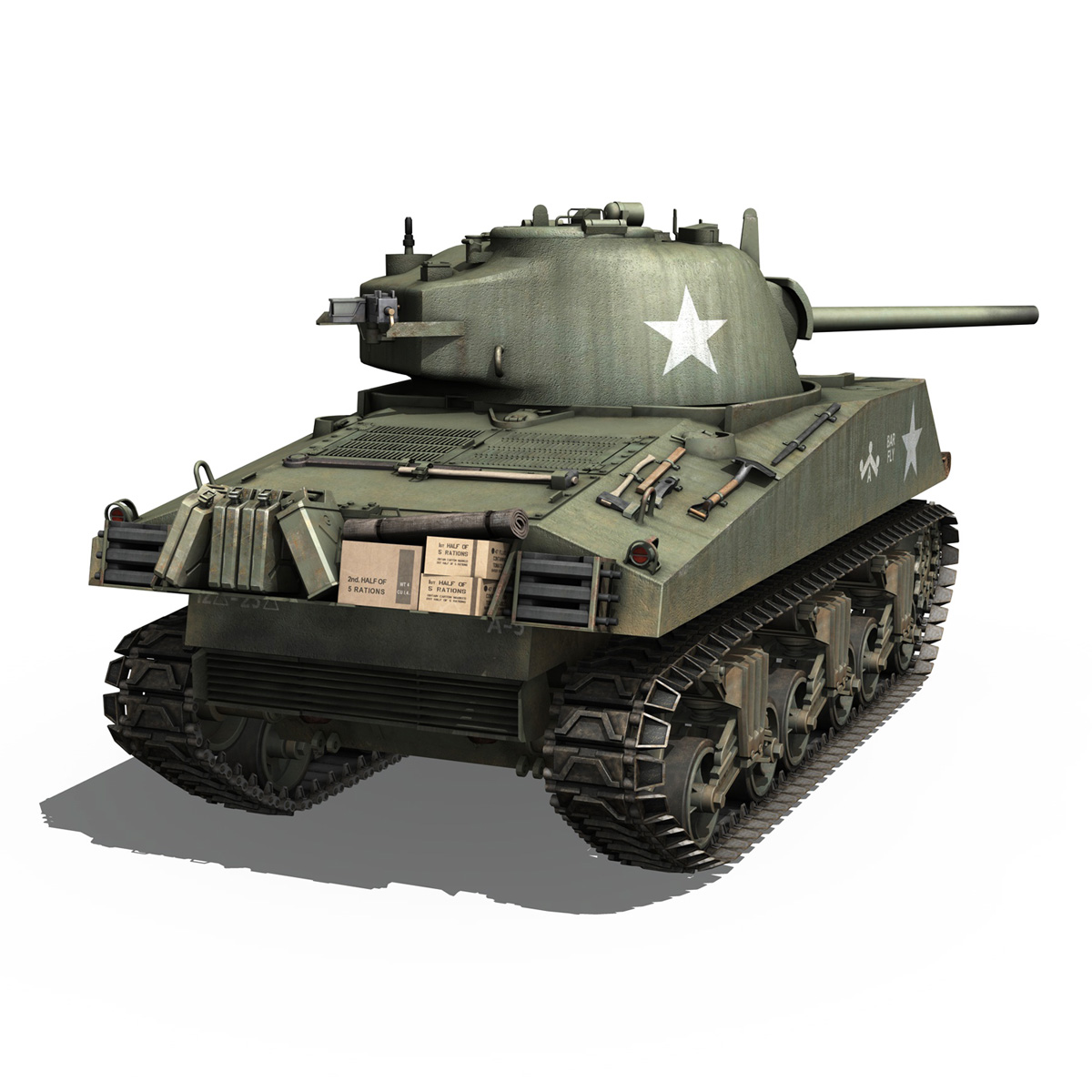 M4A3 75mm - Sherman - Barfly 3d model  265997