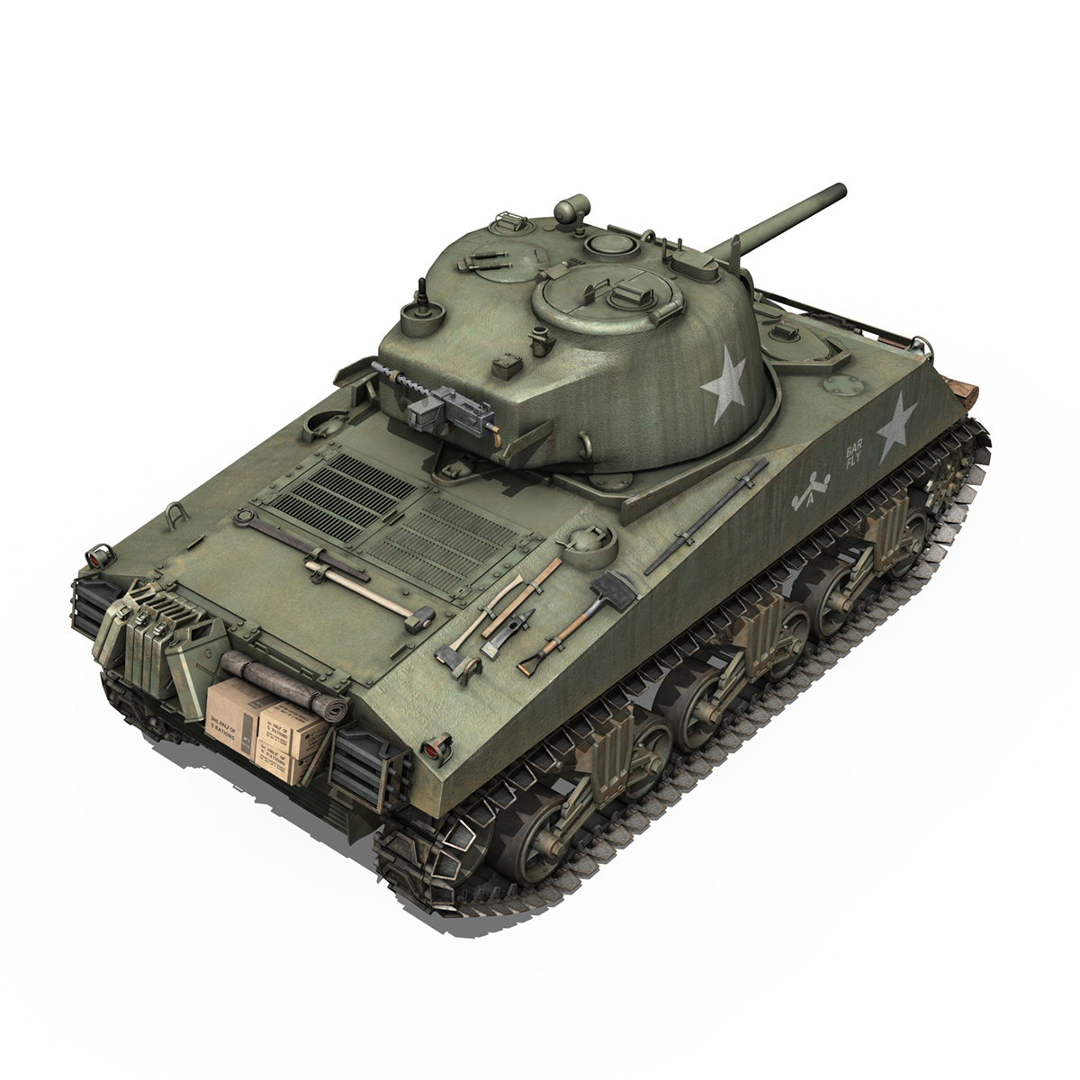 M4A3 75mm - Sherman - Barfly 3d model  265998