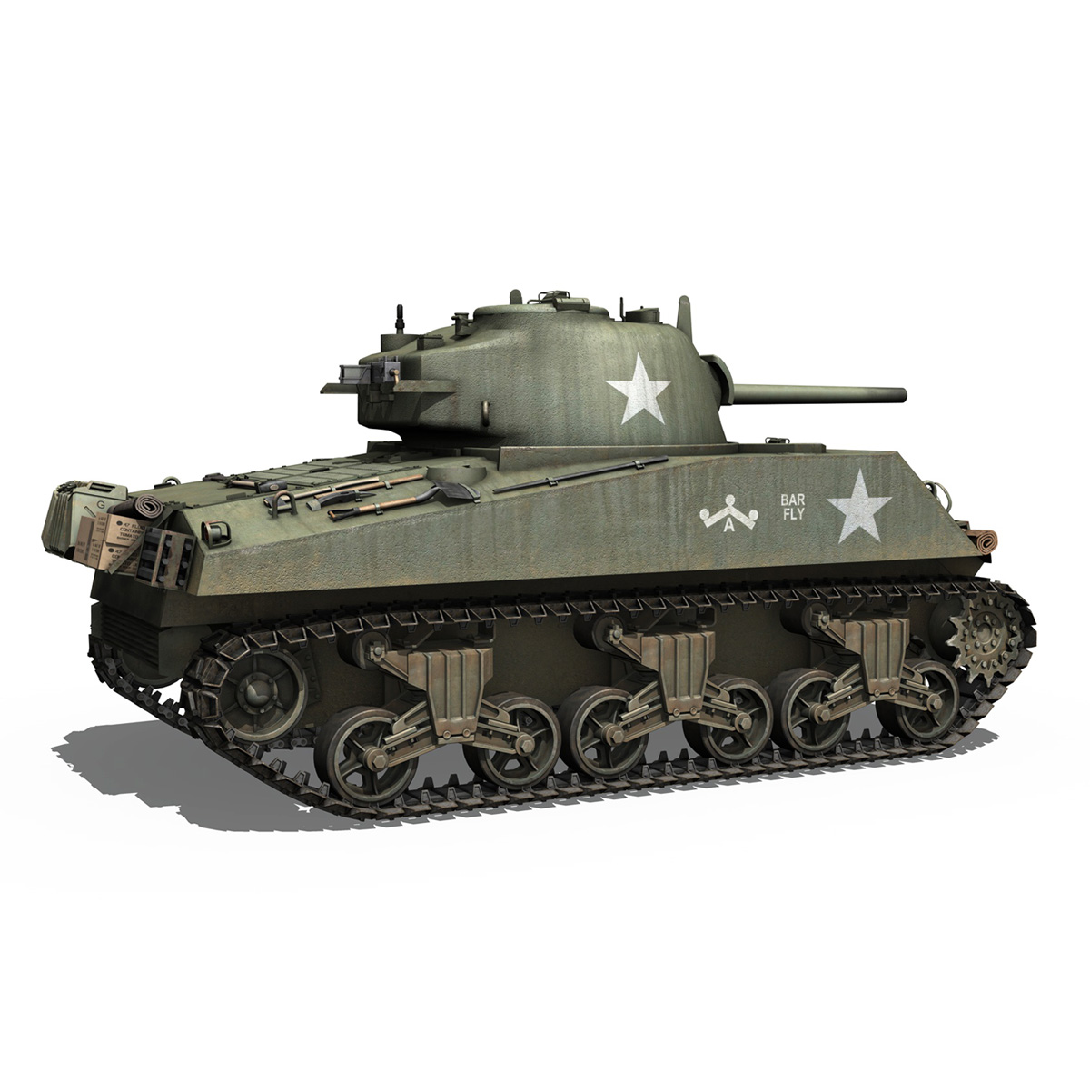 M4A3 75mm - Sherman - Barfly 3d model  265999