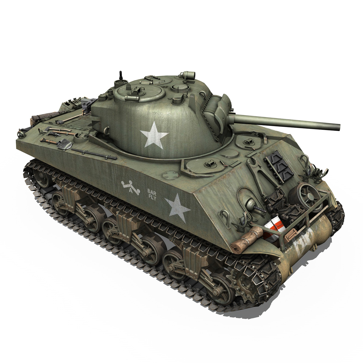 M4A3 75mm - Sherman - Barfly 3d model  266000