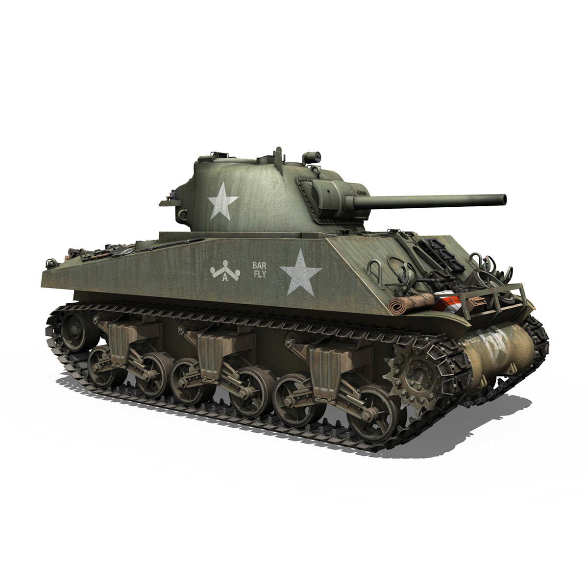 M4A3 75mm - Sherman - Barfly 3d model  266001