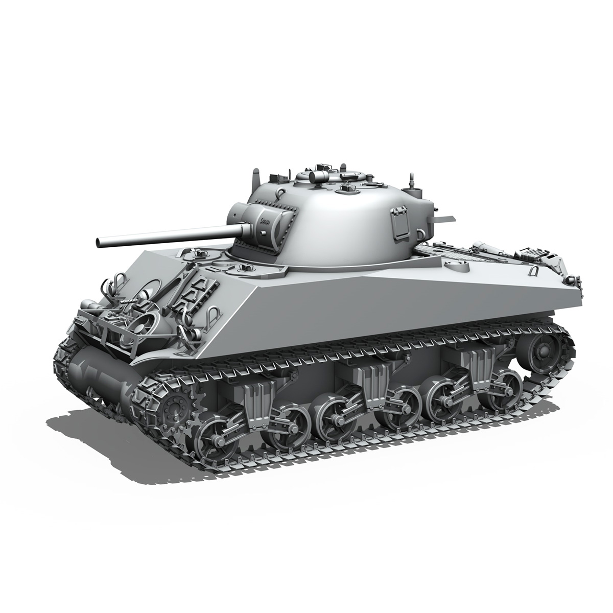M4A3 75mm - Sherman - Barfly 3d model  266003