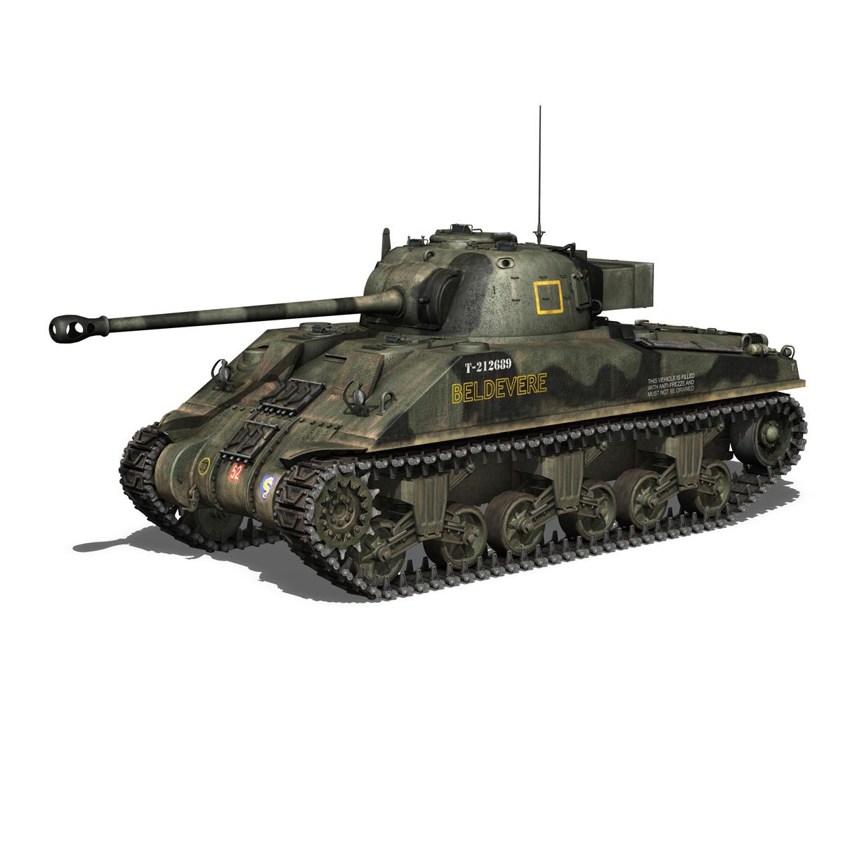 Sherman MK VC Firefly - Beldevere 3d model  266013