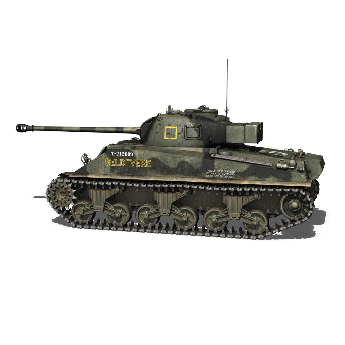 Sherman MK VC Firefly - Beldevere 3d model  266014