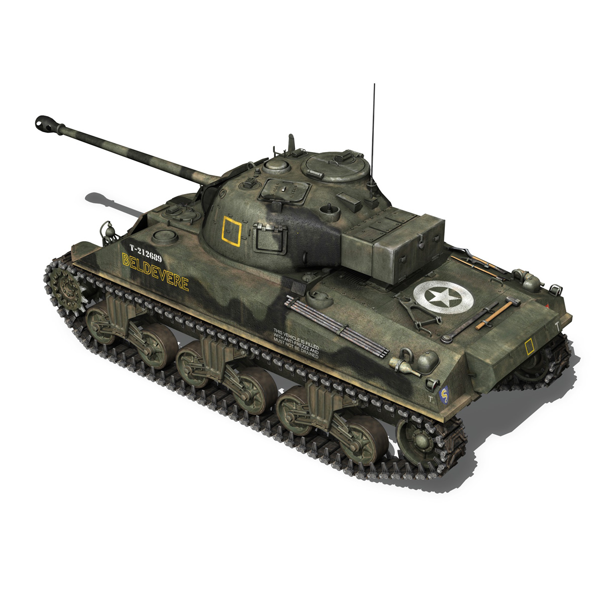Sherman MK VC Firefly - Beldevere 3d model  266015