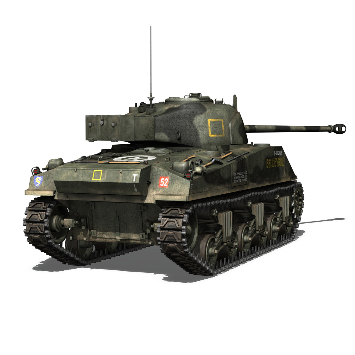 Sherman MK VC Firefly - Beldevere 3d model  266016