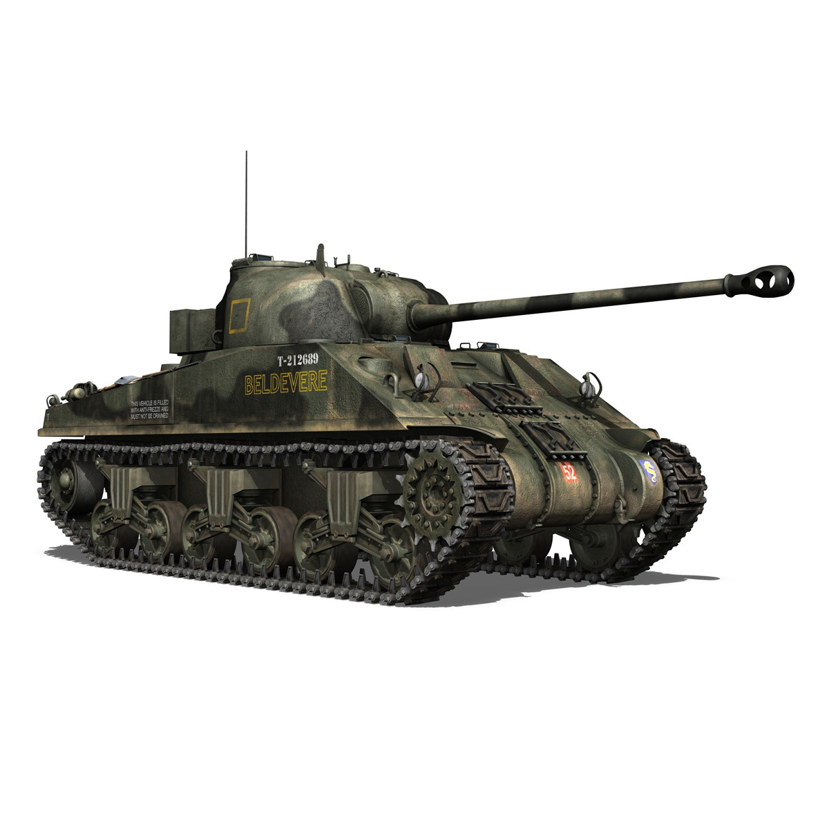 Sherman MK VC Firefly - Beldevere 3d model  266018